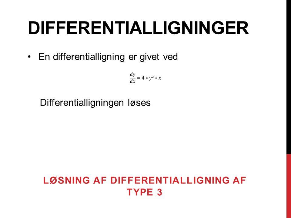 DIFFERENTIALLIGNINGER