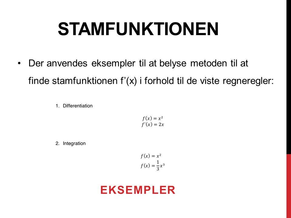 Stamfunktionen Eksempler
