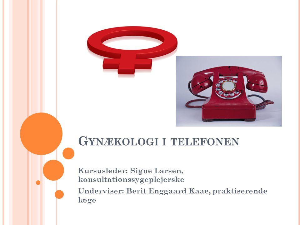 Gynækologi i telefonen