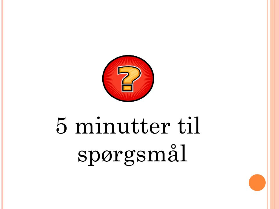 5 minutter til spørgsmål