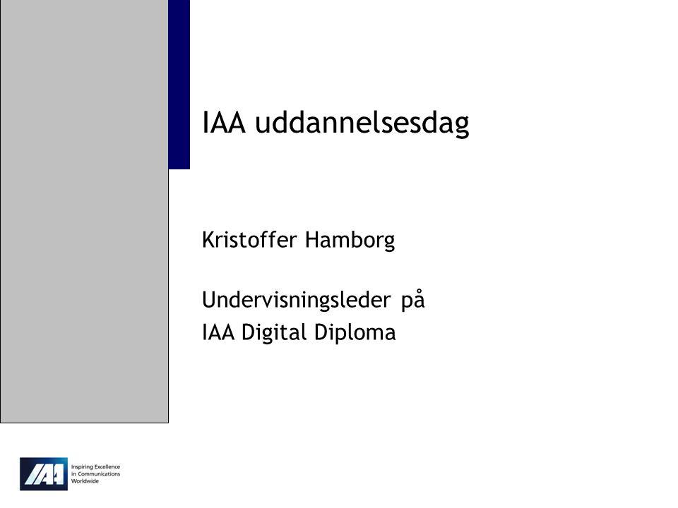Kristoffer Hamborg Undervisningsleder på IAA Digital Diploma