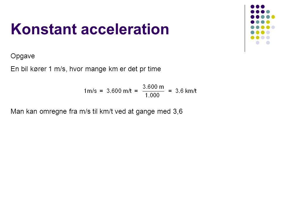 Konstant acceleration