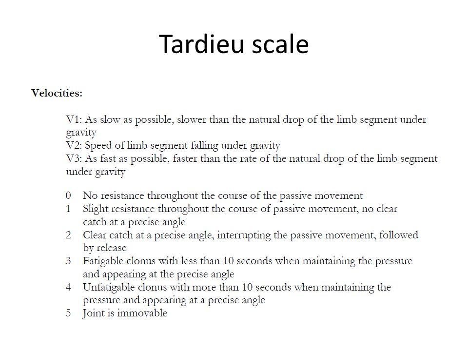 Tardieu scale