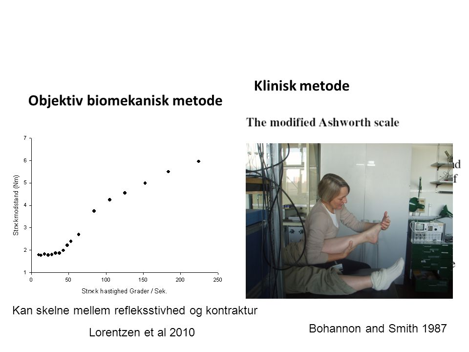 Objektiv biomekanisk metode Klinisk metode