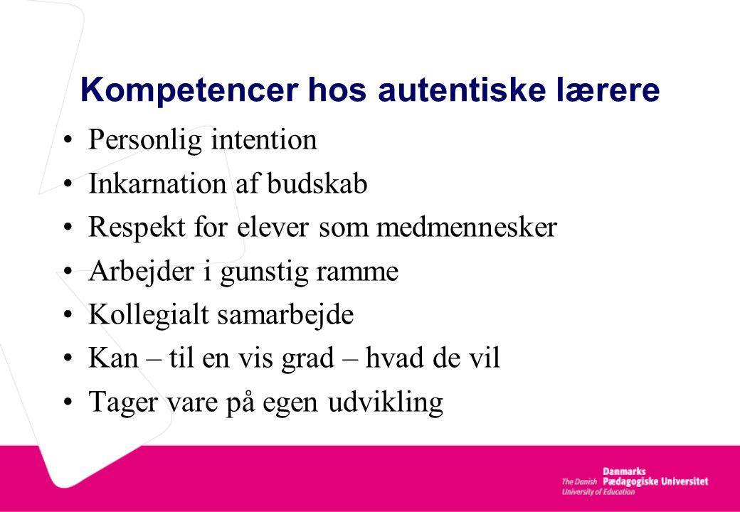Kompetencer hos autentiske lærere