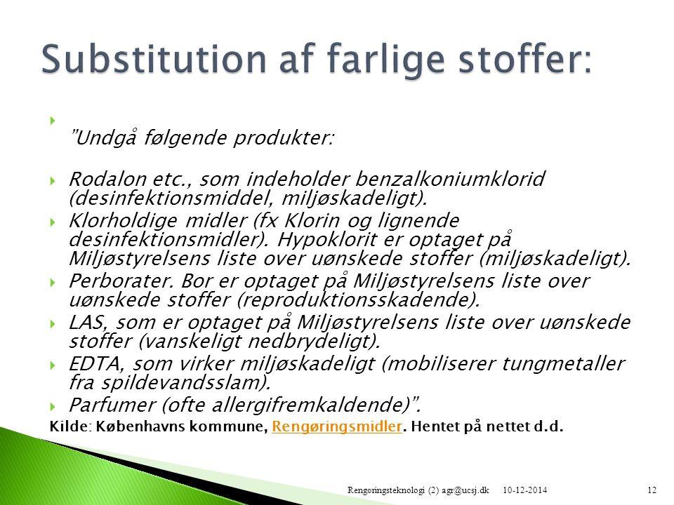 Substitution af farlige stoffer: