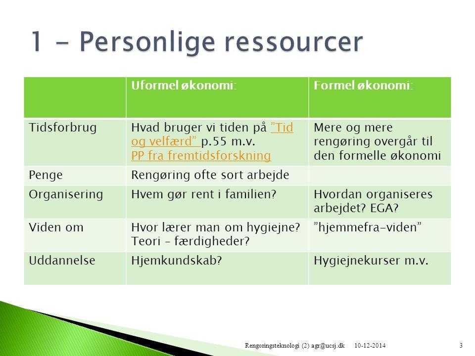 1 - Personlige ressourcer