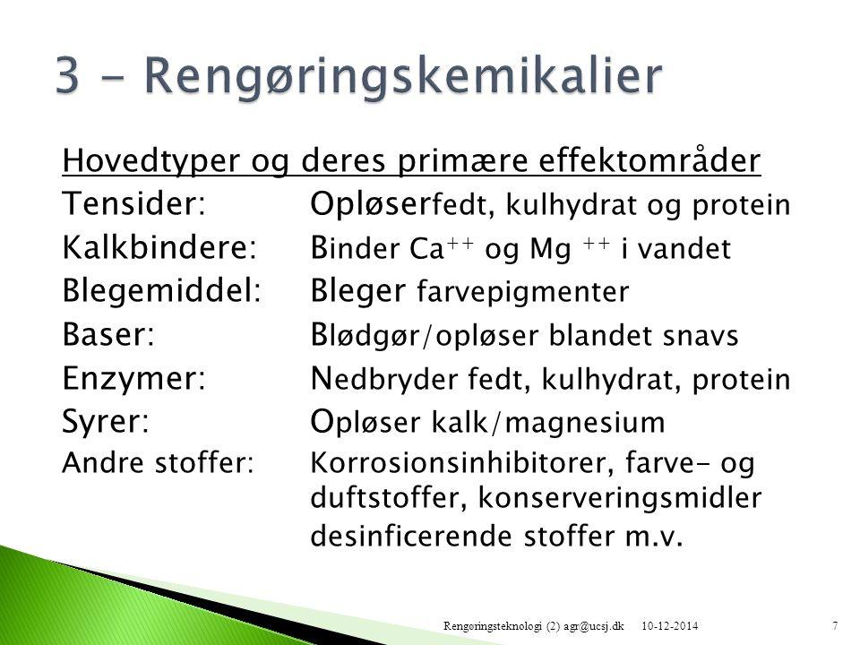 3 - Rengøringskemikalier