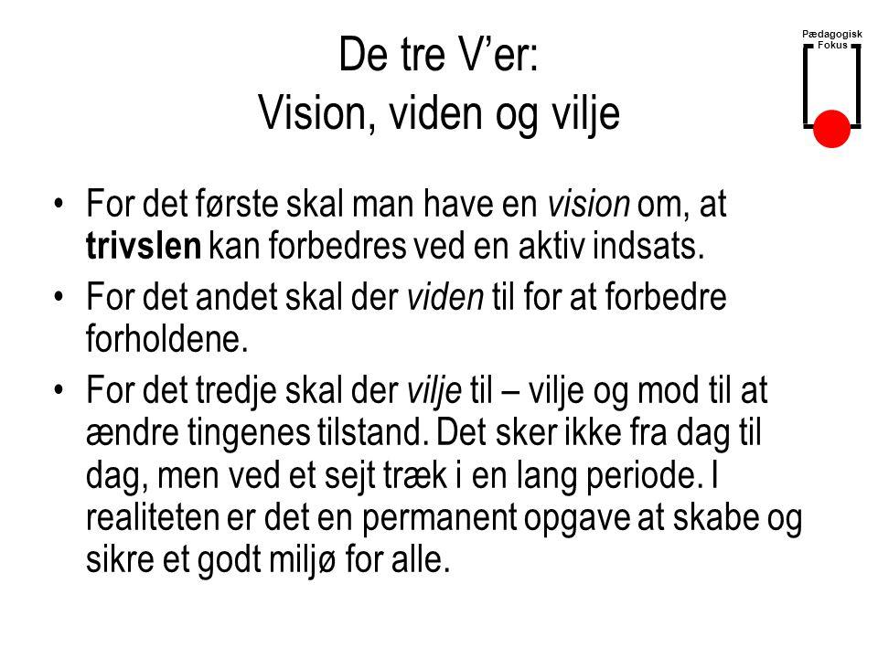 De tre V'er: Vision, viden og vilje