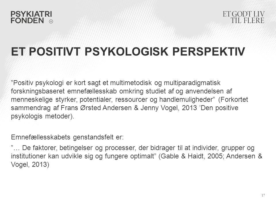 Et positivt psykologisk perspektiv