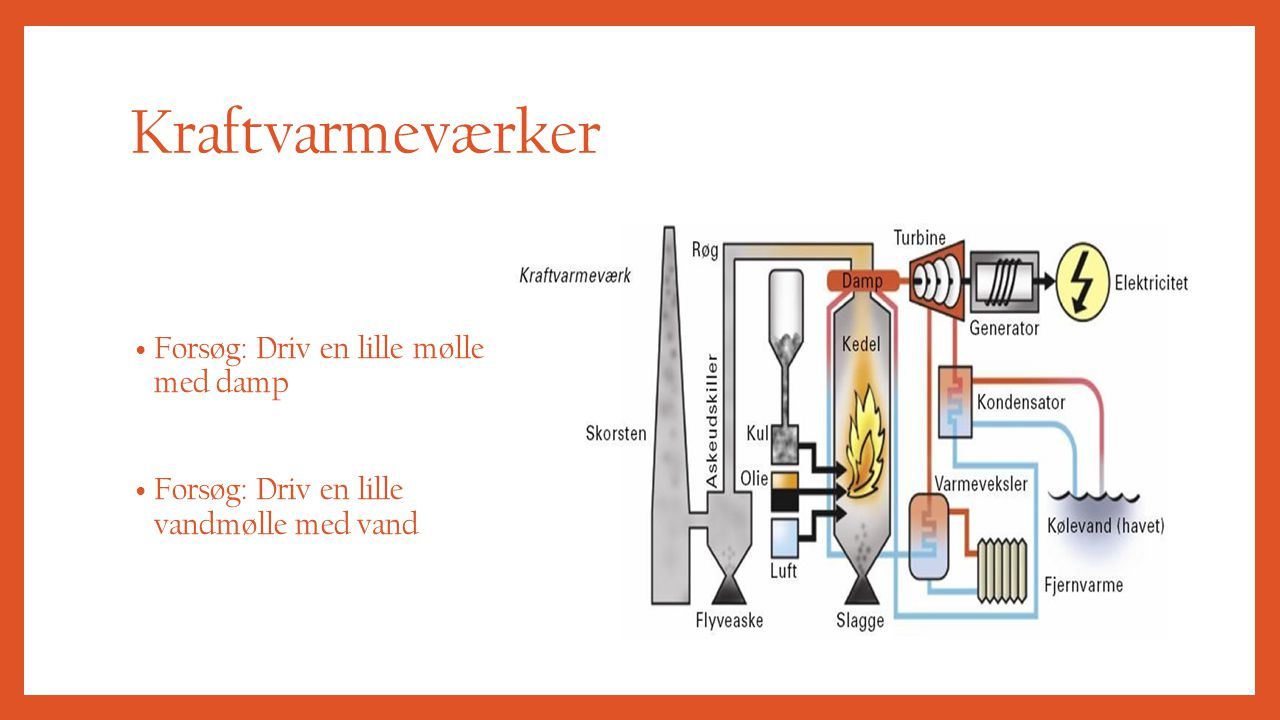 Kraftvarmeværker Forsøg: Driv en lille mølle med damp