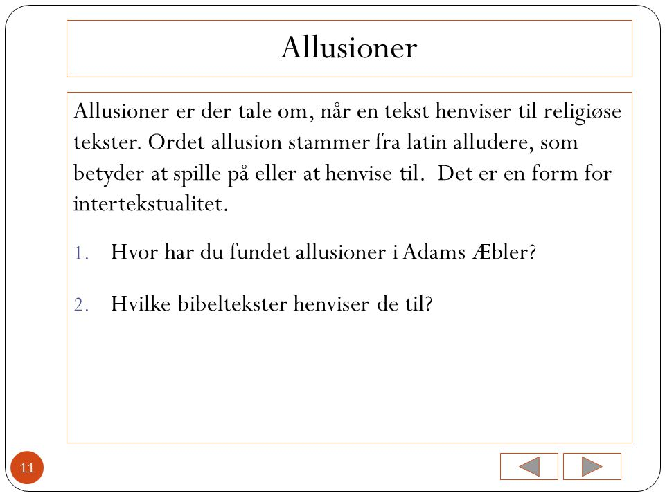 Allusioner