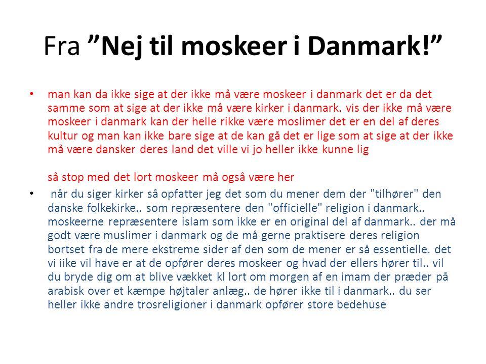 Fra Nej til moskeer i Danmark!