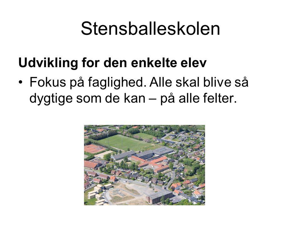 Stensballeskolen Udvikling for den enkelte elev