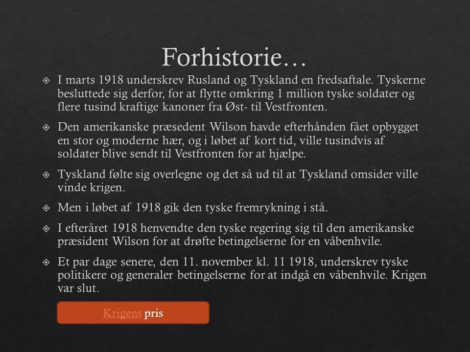 Forhistorie…