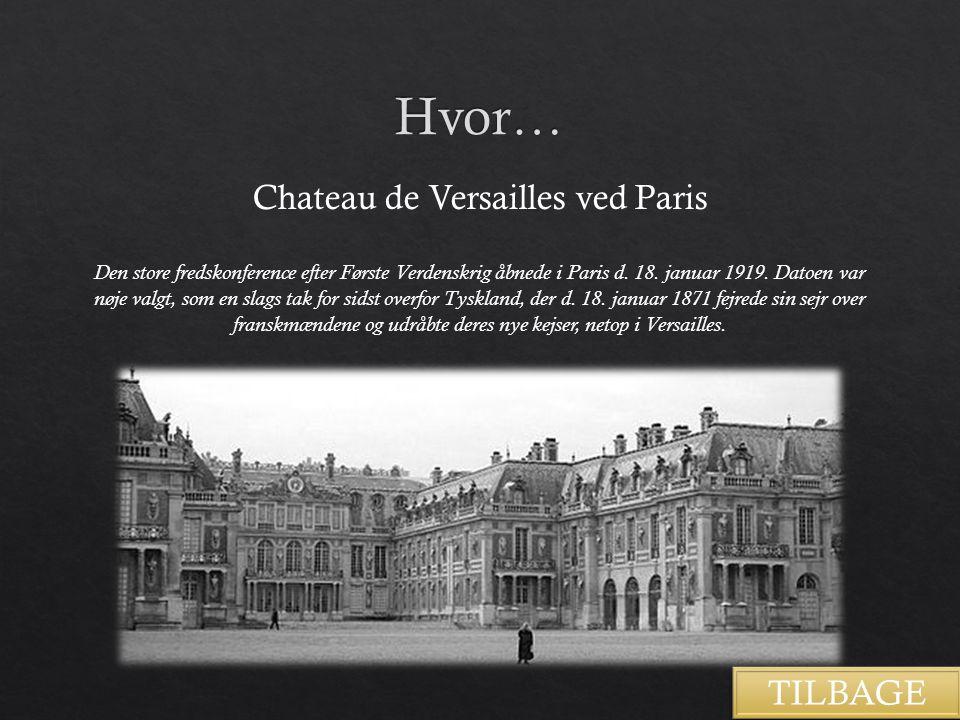 Chateau de Versailles ved Paris