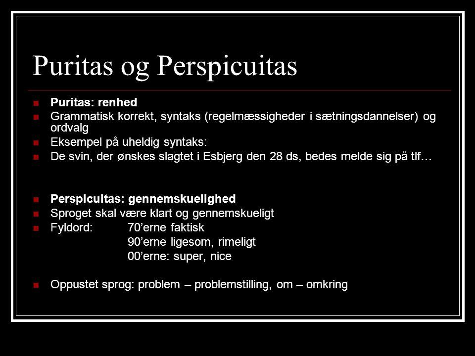 Puritas og Perspicuitas
