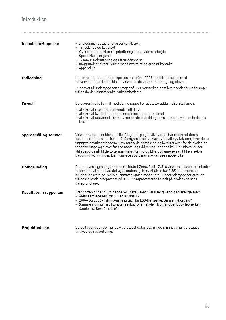 Introduktion Indholdsfortegnelse Indledning Formål Spørgsmål og temaer