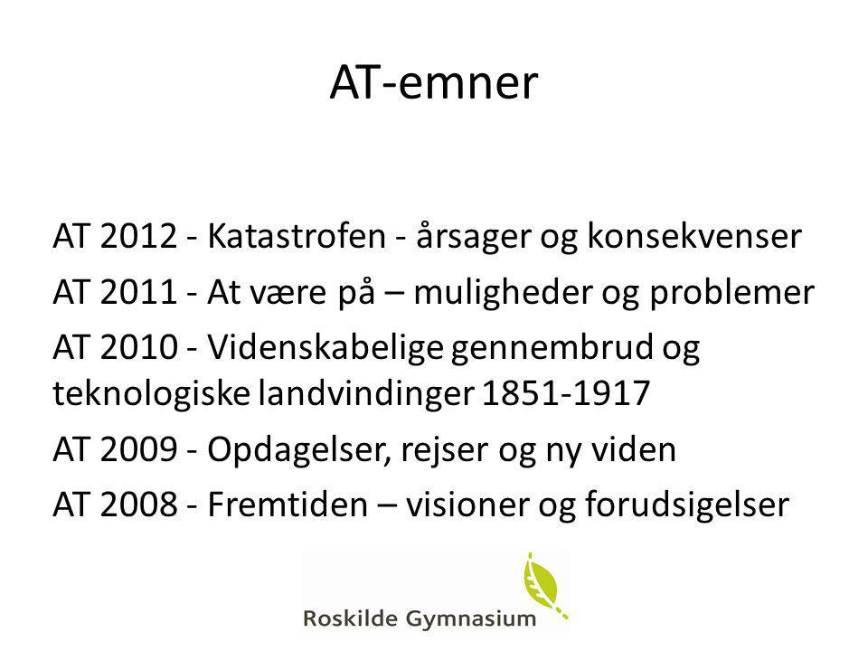 AT-emner AT 2012 - Katastrofen - årsager og konsekvenser