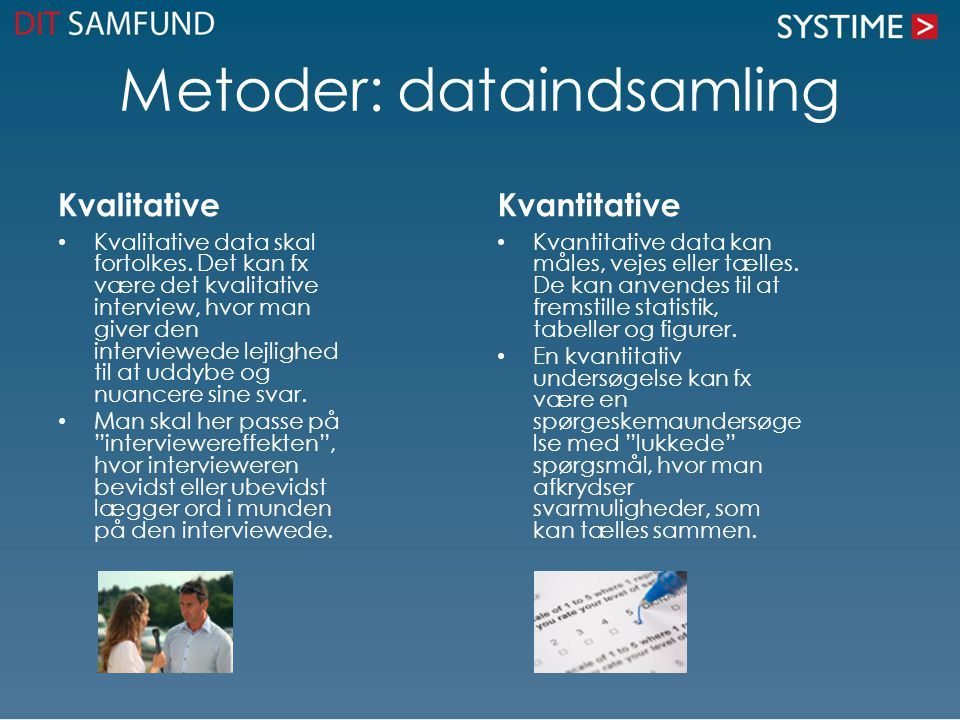 Metoder: dataindsamling