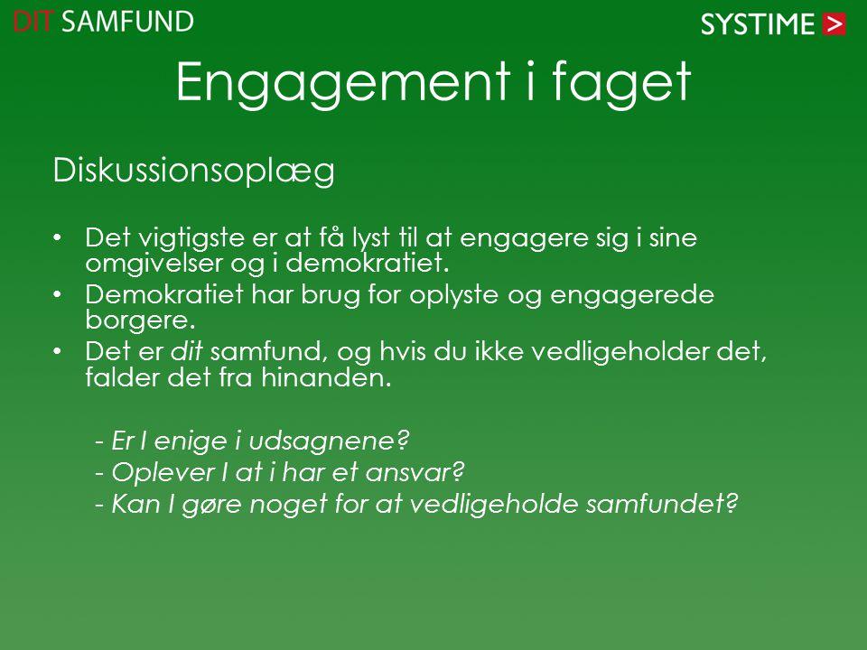 Engagement i faget Diskussionsoplæg
