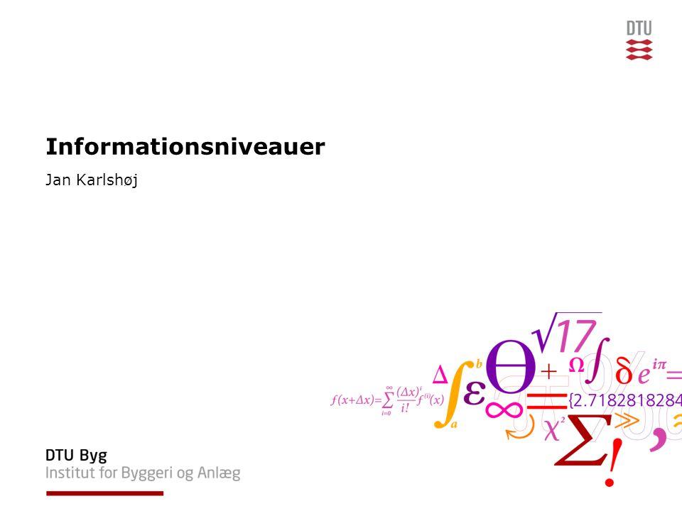 Informationsniveauer