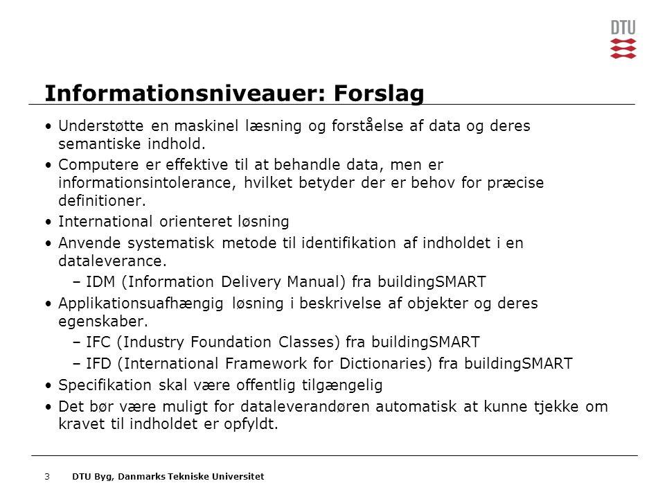 Informationsniveauer: Forslag