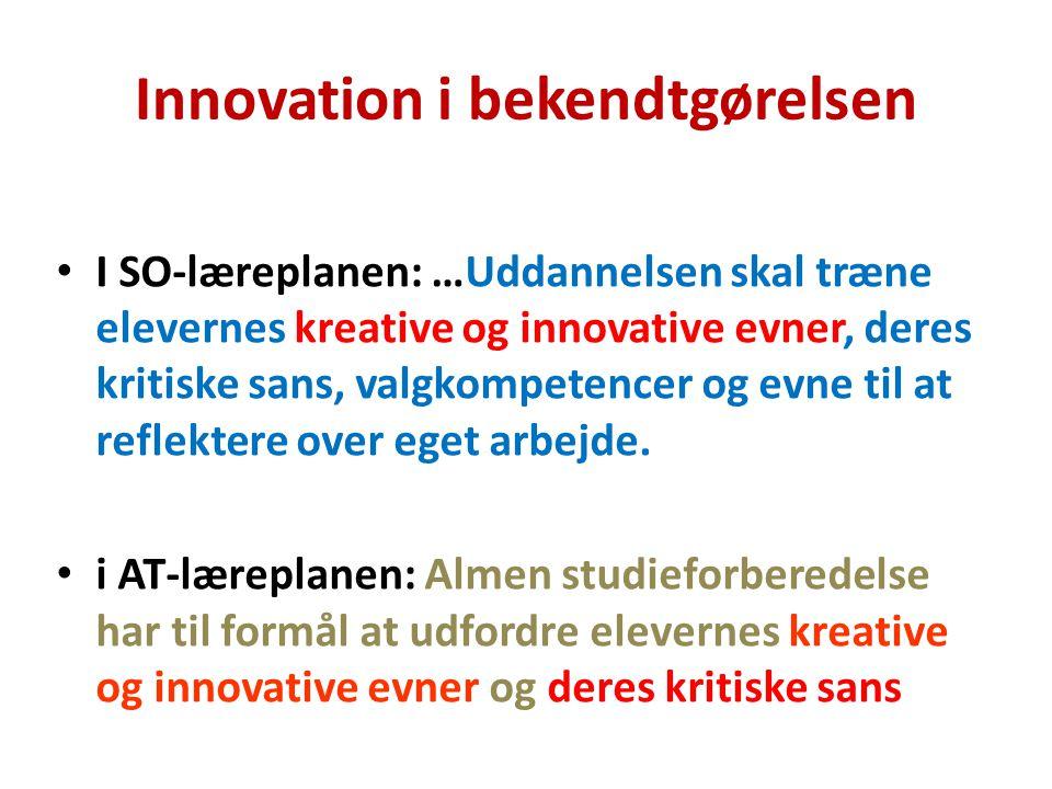 Innovation i bekendtgørelsen