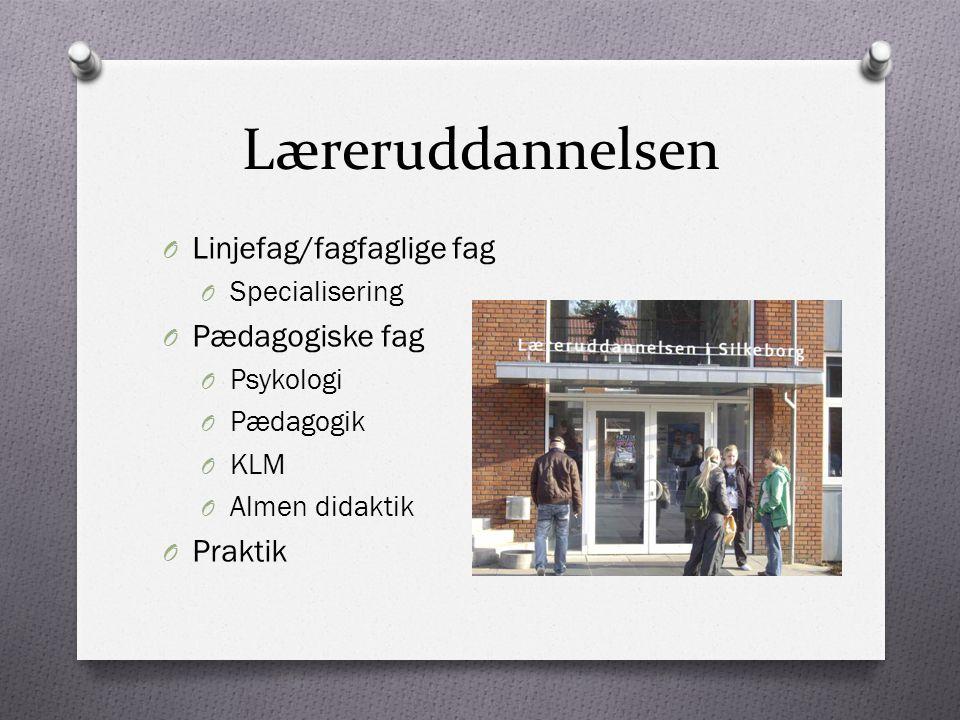 Læreruddannelsen Linjefag/fagfaglige fag Pædagogiske fag Praktik