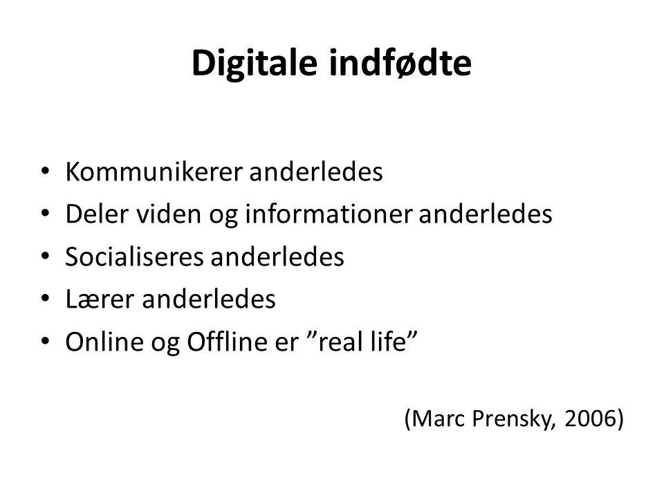 Digitale indfødte Kommunikerer anderledes