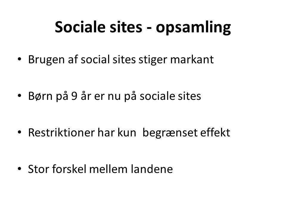 Sociale sites - opsamling