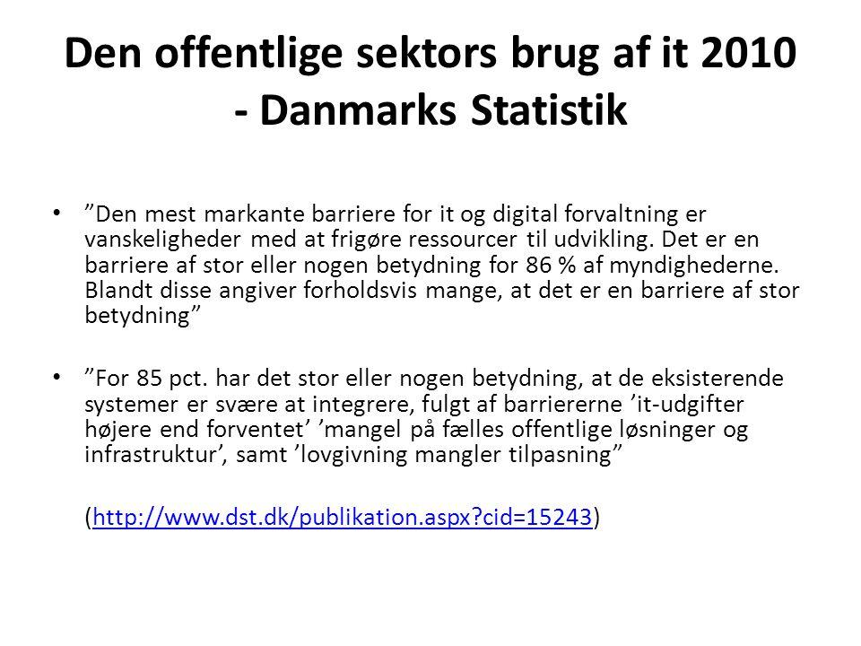 Den offentlige sektors brug af it 2010 - Danmarks Statistik
