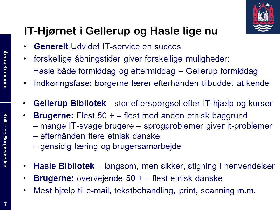 IT-Hjørnet i Gellerup og Hasle lige nu