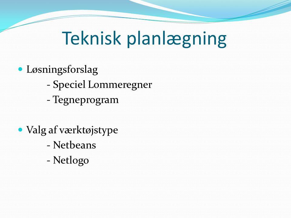 Teknisk planlægning Løsningsforslag - Speciel Lommeregner