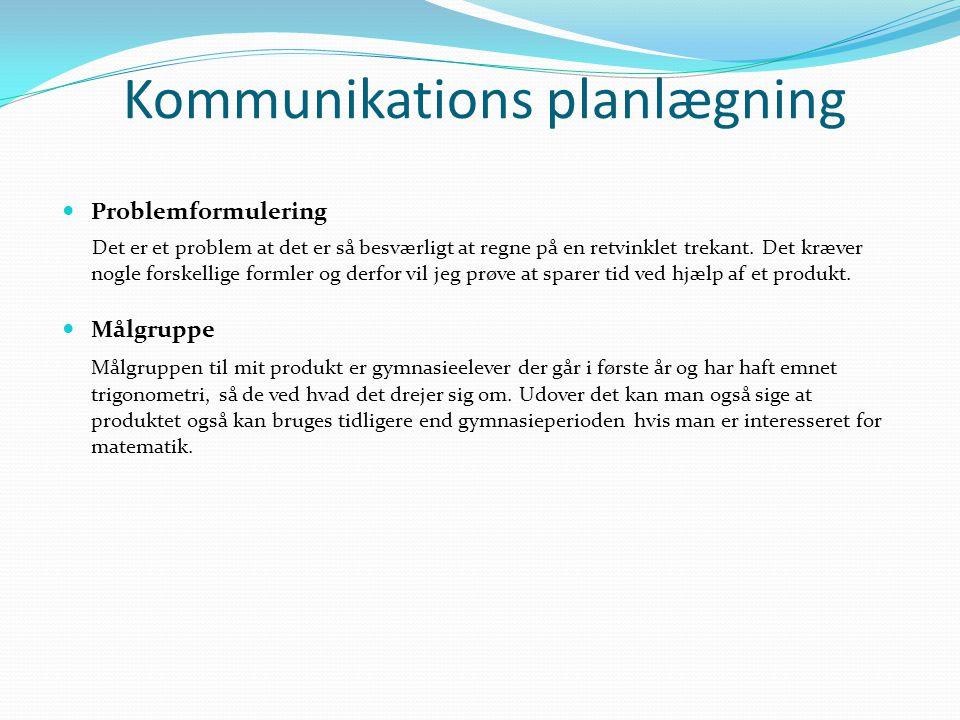 Kommunikations planlægning