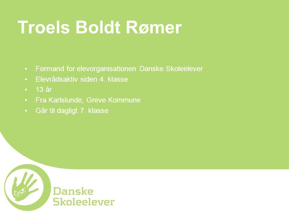 Troels Boldt Rømer Formand for elevorganisationen Danske Skoleelever