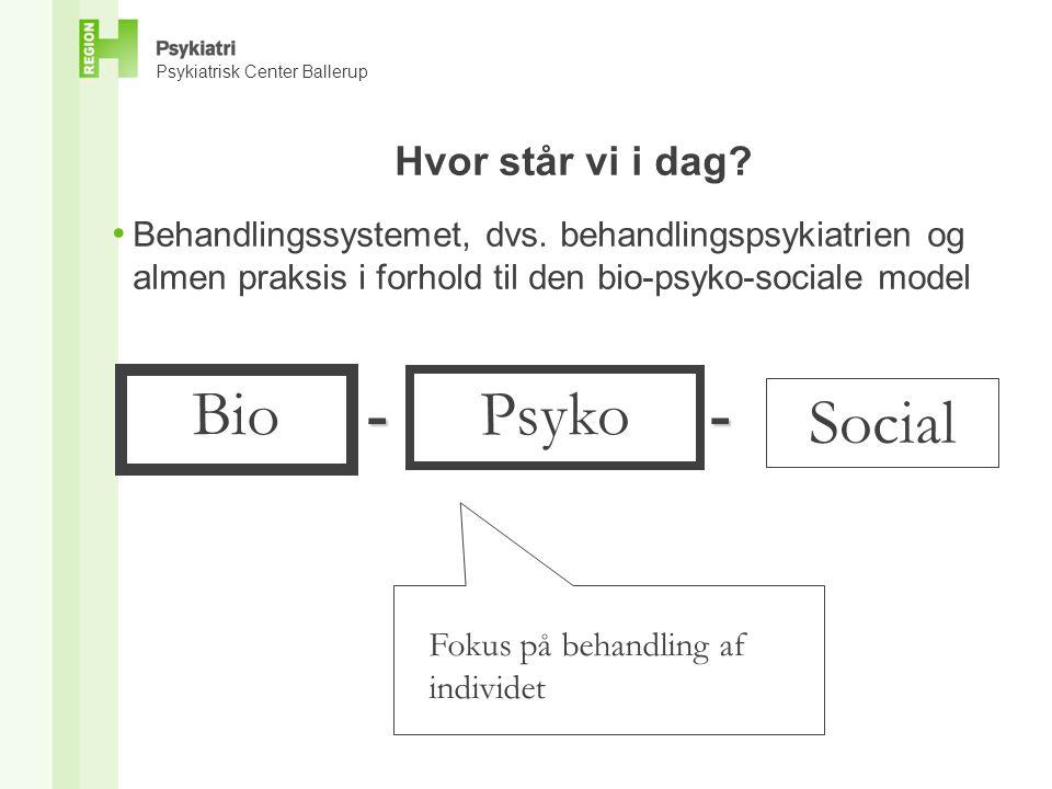 Bio - Psyko - Social Hvor står vi i dag