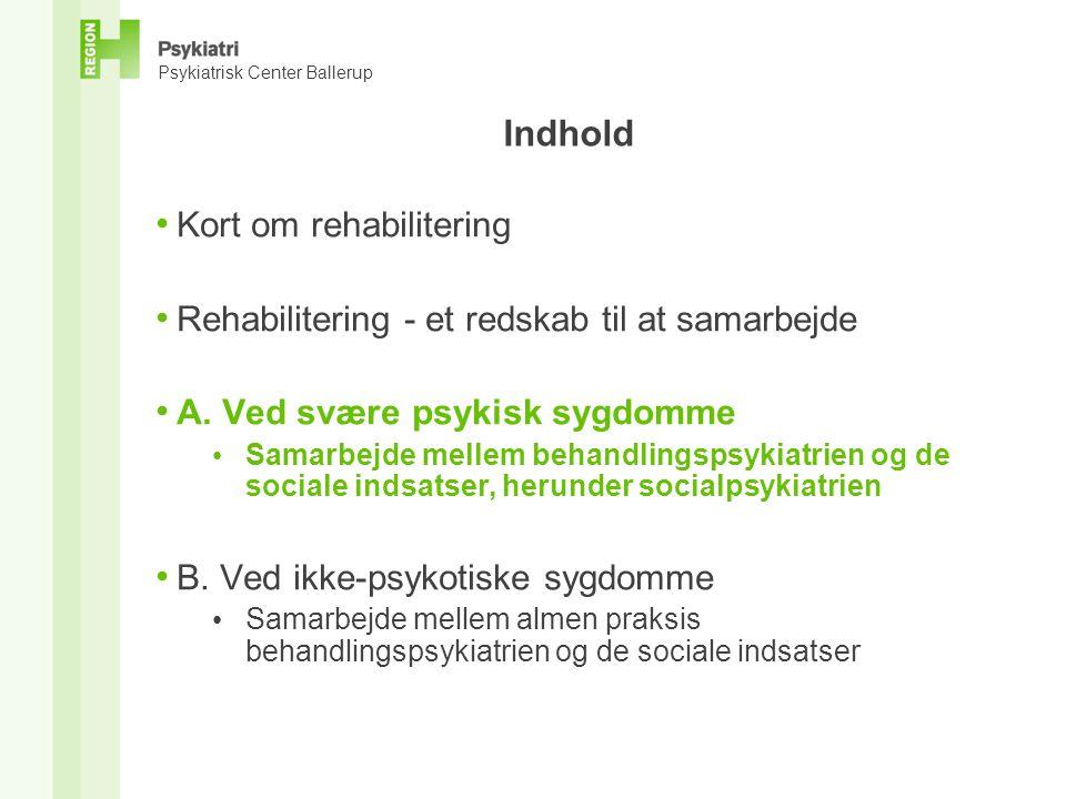 Indhold Kort om rehabilitering