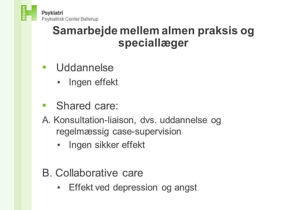 Samarbejde mellem almen praksis og speciallæger