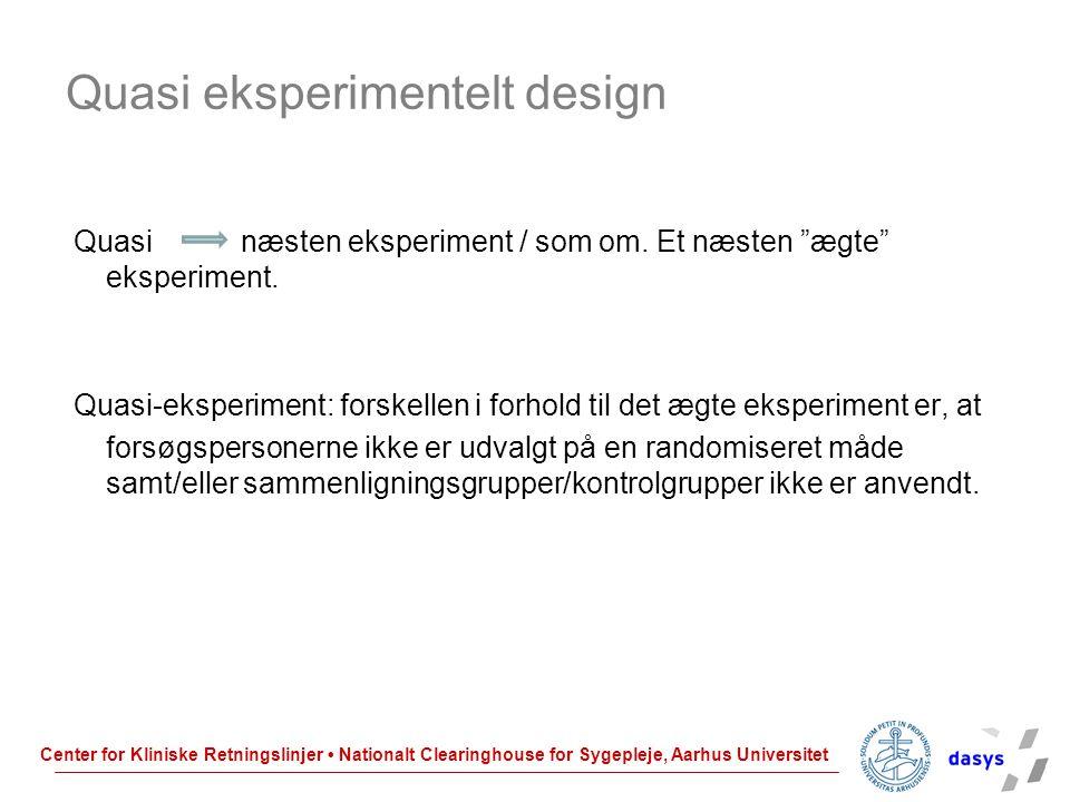 Quasi eksperimentelt design