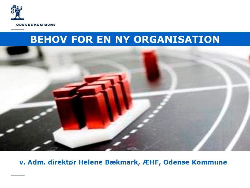 BEHOV FOR EN NY ORGANISATION