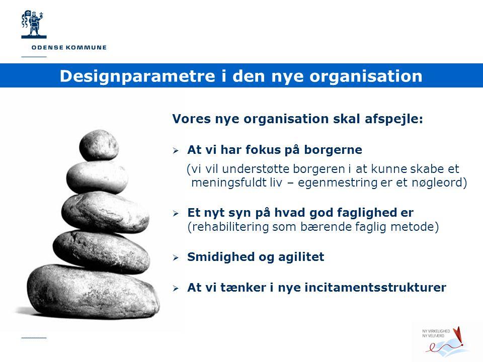 Designparametre i den nye organisation