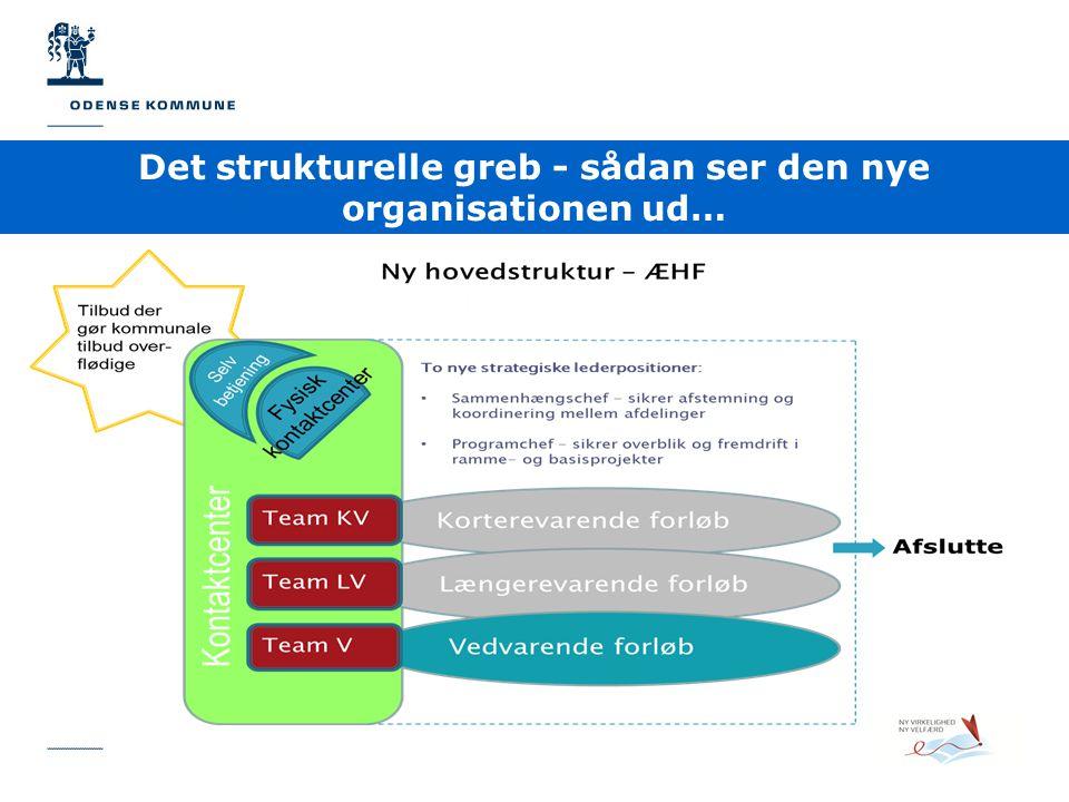 Det strukturelle greb - sådan ser den nye organisationen ud…