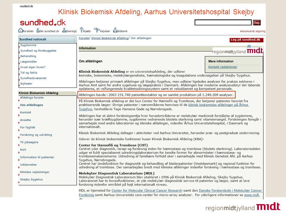 Klinisk Biokemisk Afdeling, Aarhus Universitetshospital Skejby