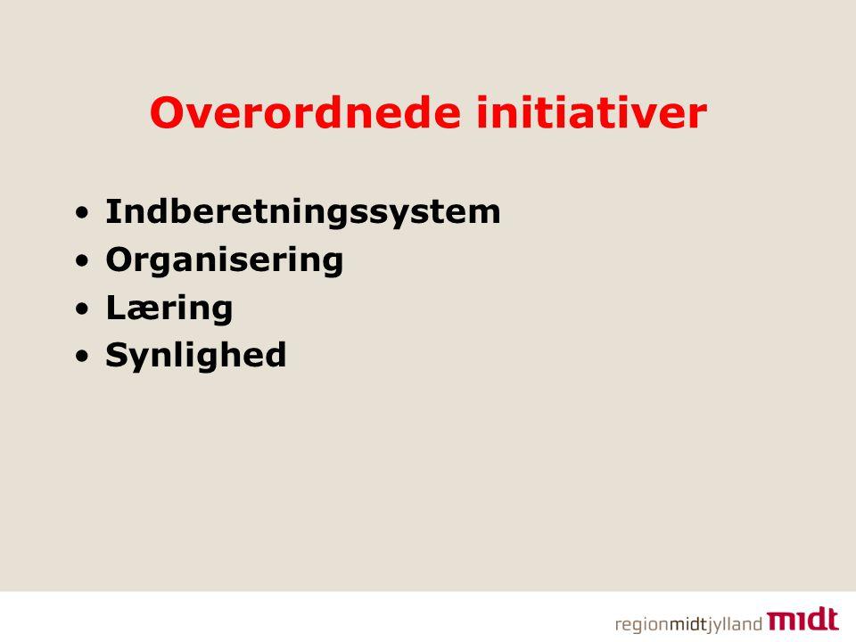 Overordnede initiativer