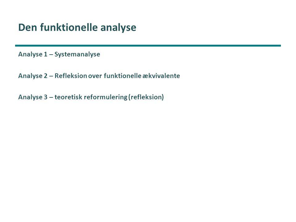 Den funktionelle analyse