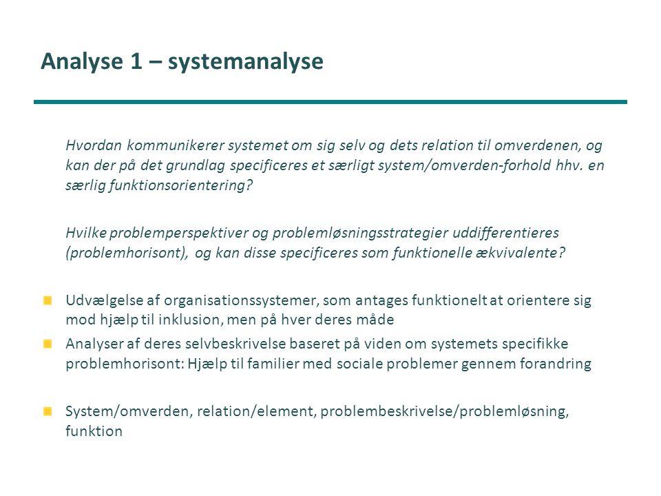 Analyse 1 – systemanalyse
