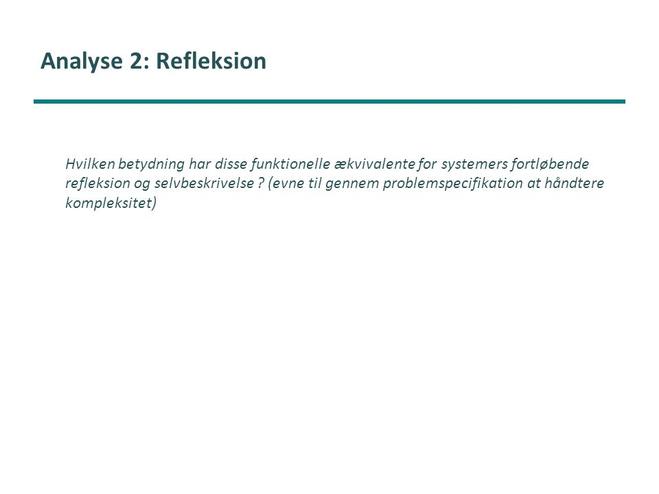 Analyse 2: Refleksion