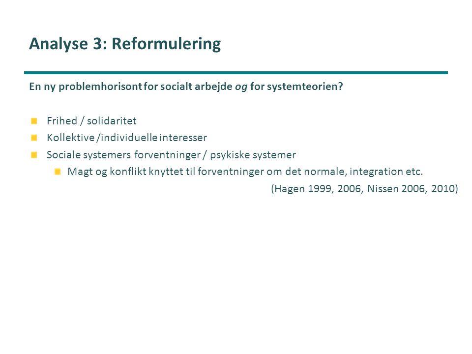 Analyse 3: Reformulering