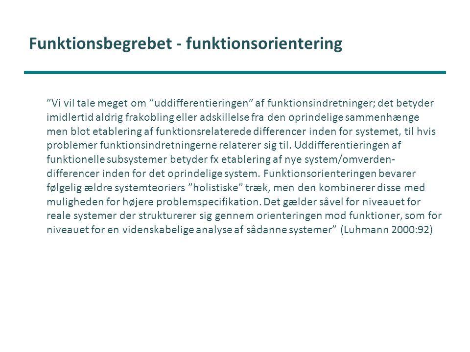Funktionsbegrebet - funktionsorientering